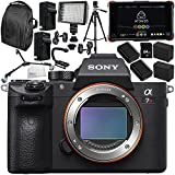 Sony Alpha a7R III Mirrorless Digital Camera with Atomos Ninja Flame 7 4K HDMI Recording Monitor 15PC Accessory Bundle – Includes Deluxe Backpack + MORE