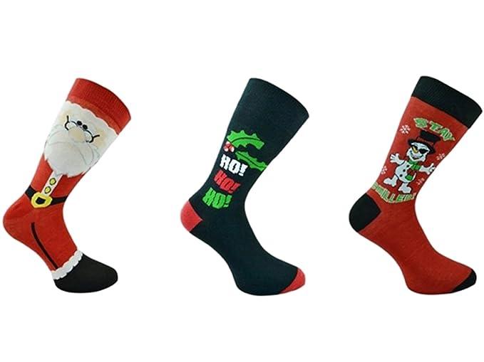 HDUK – 3 pares de calcetines de fantasía de Navidad para mujeres y hombres, talla 39-45 (hombres), 37-42 (mujeres): Amazon.es: Ropa y accesorios
