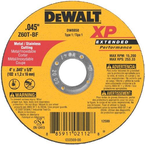 DEWALT DW8850 XP Cutoff Wheel, 4-Inch X .045-Inch X (4 In Corded Circular Saw)