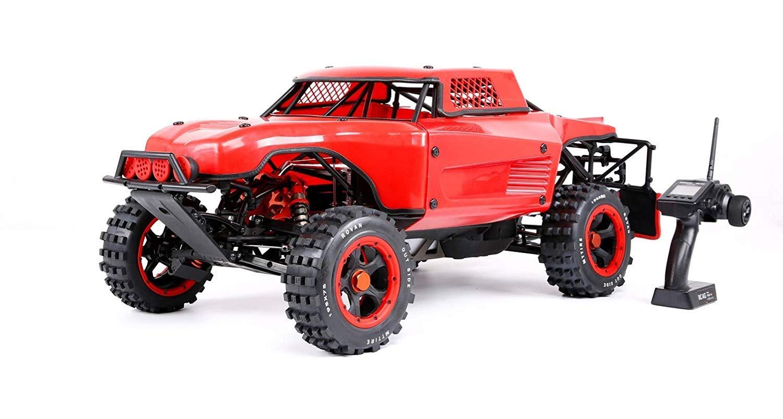 Monster Truck Coche Remoto por Todo Terreno Muzili- 1:5 Motor de Gasolina Fijo de Cuatro Puntos, Cuatro Tiempos, refrigerado por Aire, de 36 CC (carburador ...