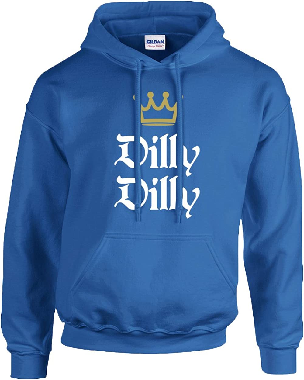 Funny Beer Drinking Dilly Dilly King Crown Outline Hooded Sweatshirt Black