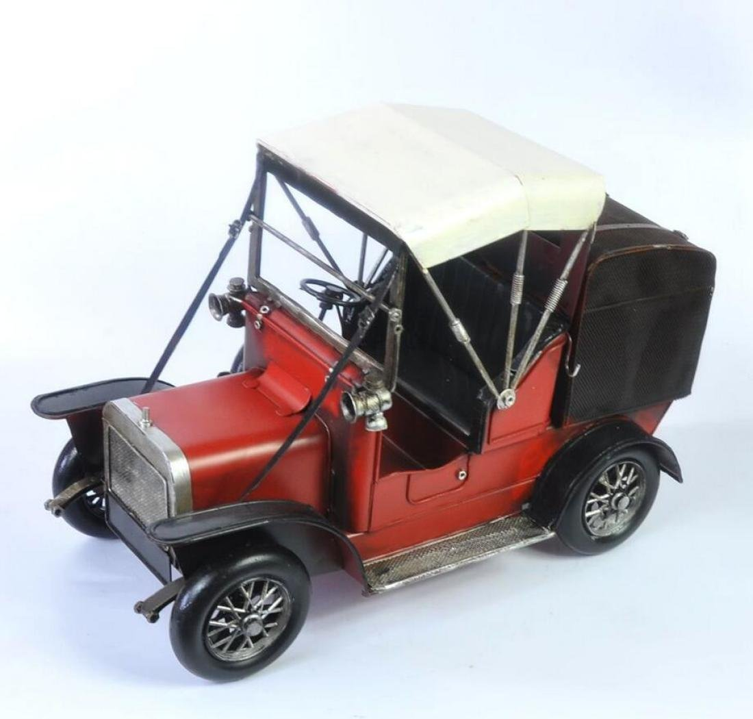 GL&G Retro Iron art car model Home Metal crafts festival gift bar office Tabletop Scenes Ornaments Collectible Vehicles Keepsakes,412028cm