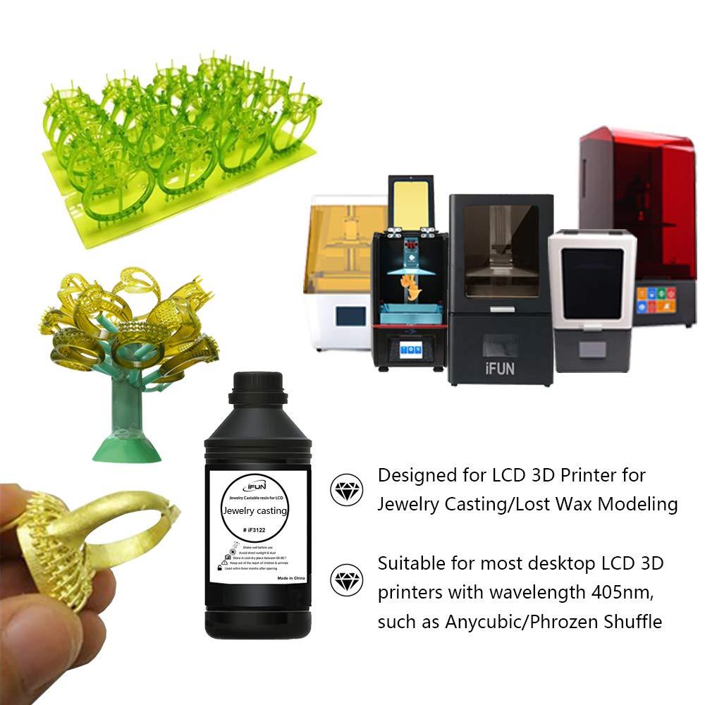 Amazon com: IFUN Jewelry Casting Resin for LCD 3D Printer Lost Wax
