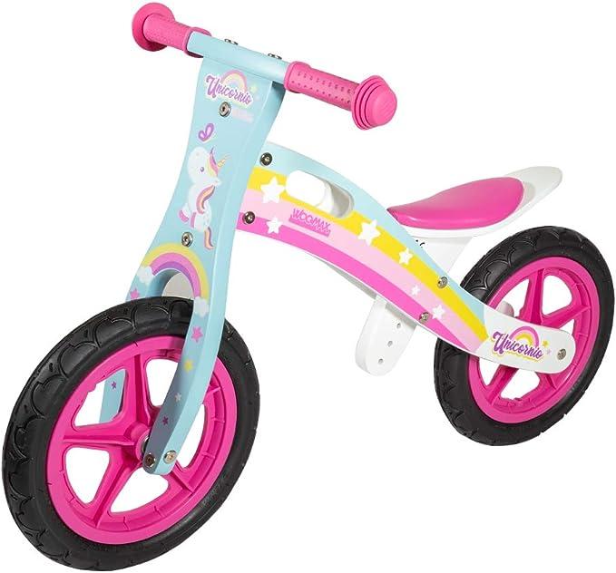 WOOMAX - Bici sin pedales en madera modelo Unicornio 12 ...