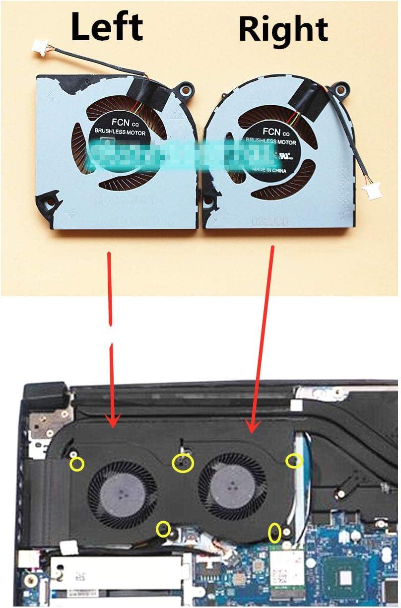 HK-Part Fan for Acer Nitro 5 AN515-43 AN515-54 AN517-51 Nitro 7 AN715-51 CPU /& Gpu Cooling Fan