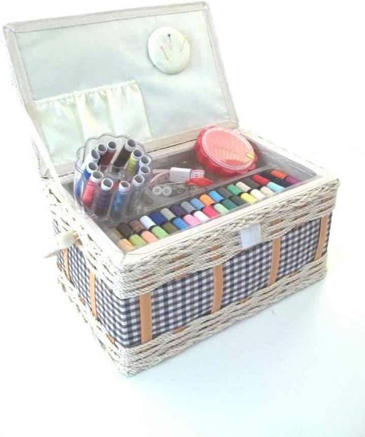 Caja de Costura costurero incl. Ze, mano cesta, color rojo y ...