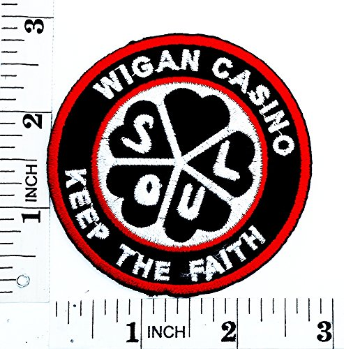 [Wigan casino Keep the Faith Rider Biker Tatoo patch Motorcyle Bike Novelty patch Symbol Jacket T-shirt Patch Sew Iron on Embroidered Sign Badge] (Lucky Lady Casino Costume)
