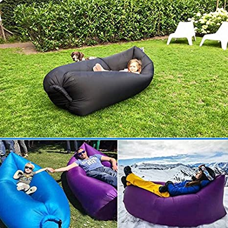 Lay Sack Air Bed Sofa Hangout Festival Camping Holiday Lazy Bean Bag Amazoncouk Sports Outdoors