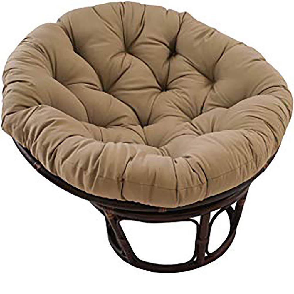 Dlpy Patio Papasan Chair Cushion Brown 52 X 6 X 52 Hanging Egg Chair Pads Oversized Psds Thick Nest Round Fluffy Removable For Garden Brown Diameter130cm 51inch Buy Online In India At Desertcart In Productid