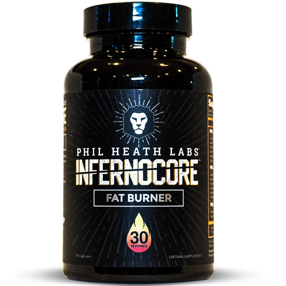 Phil Heath Labs - Infernocore Fat Burner - Energy, Heat, Shred and Focus - Teacrine, Innoslim and GBBGO - 30 Servings