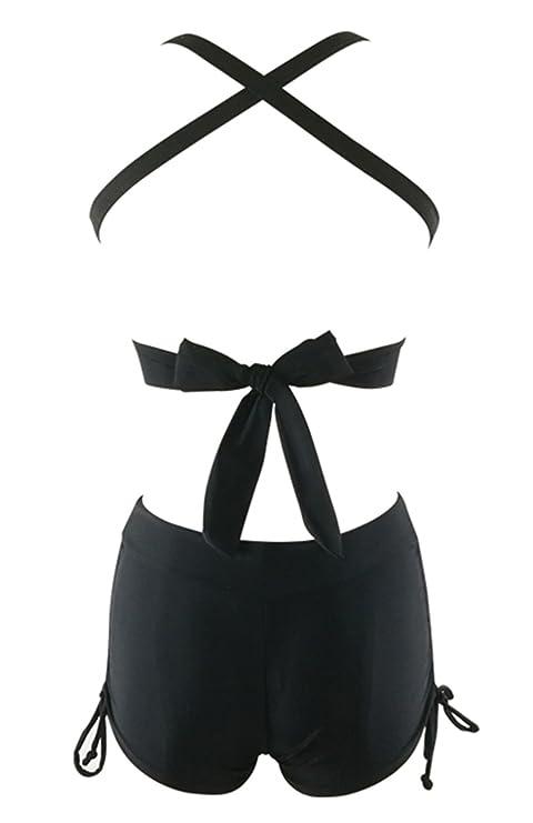 8855aa8ddb2 Amazon.com: Zando Womens Swimsuits with Boyshort Athletic Two Piece ...
