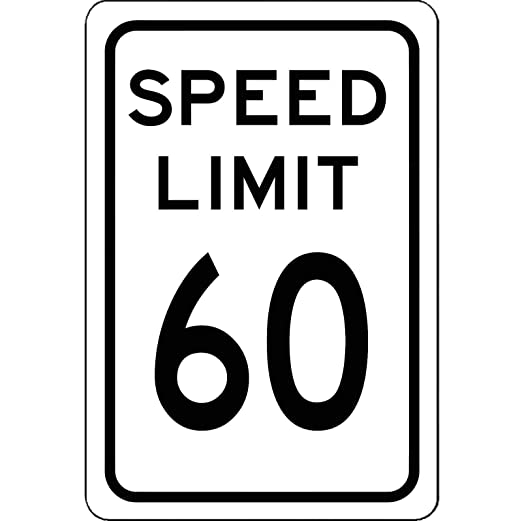 Dozili Speed Limit 60 mph - Cartel de Aluminio para ...