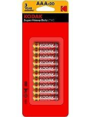 Kodak Super Heavy Duty AAA 20 Pack Zinc Batteries (30937765)