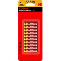 Kodak Super Heavy Duty AAA 20 Pack Zinc Batteries