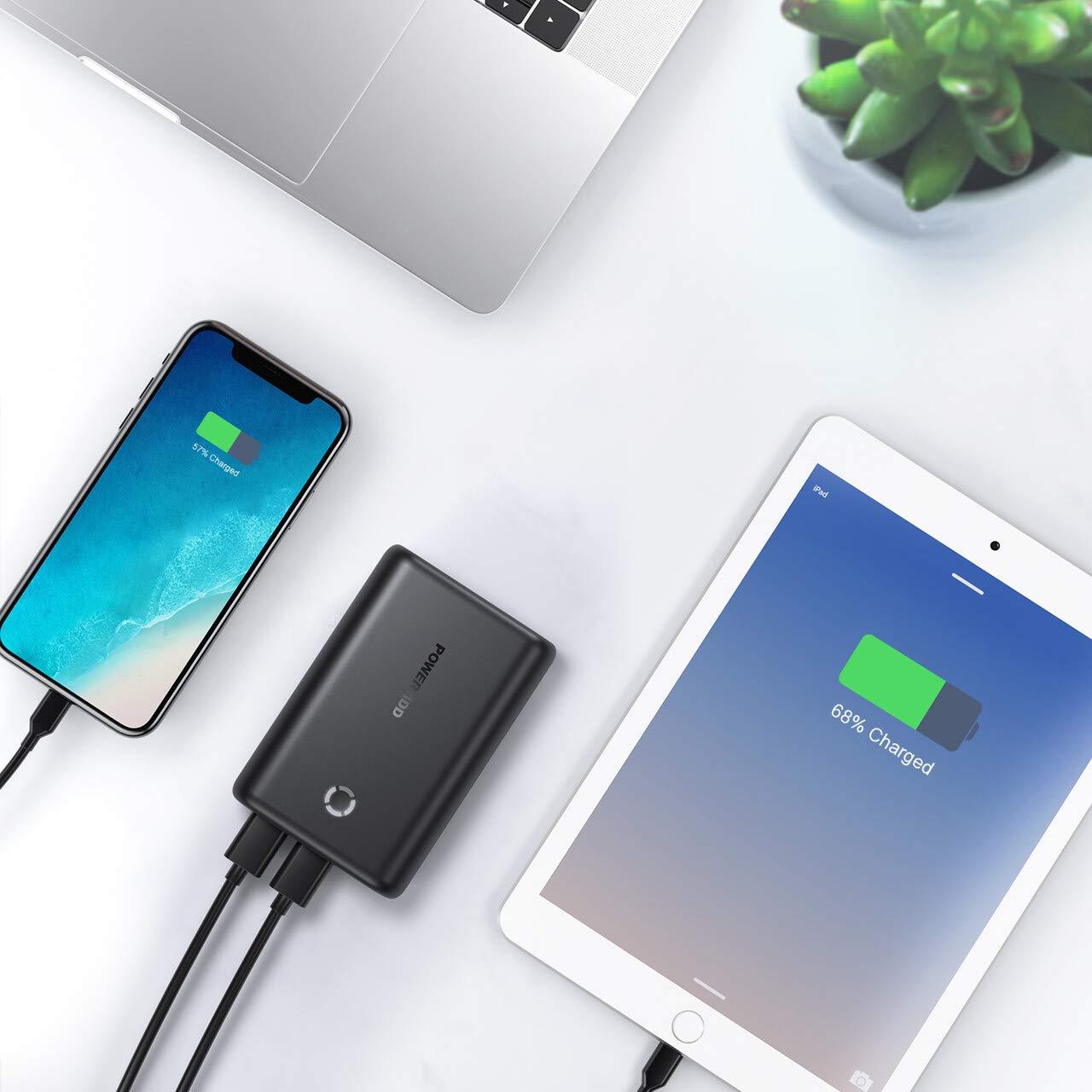 POWERADD EnergyCell Powerbank 15000mAh Batería Externa Cargador Portátil para iPhone,Samsung,Huawei,Xiaomi,Tablets -Negro