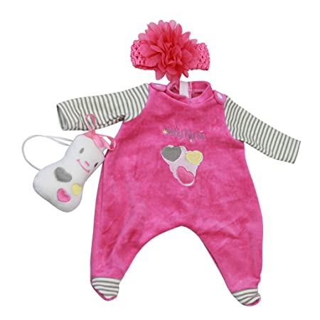 """Trendy Flowers Dress Pants Hat Socks Outfit for 17-18/"""" Reborn Baby Girl Doll"""