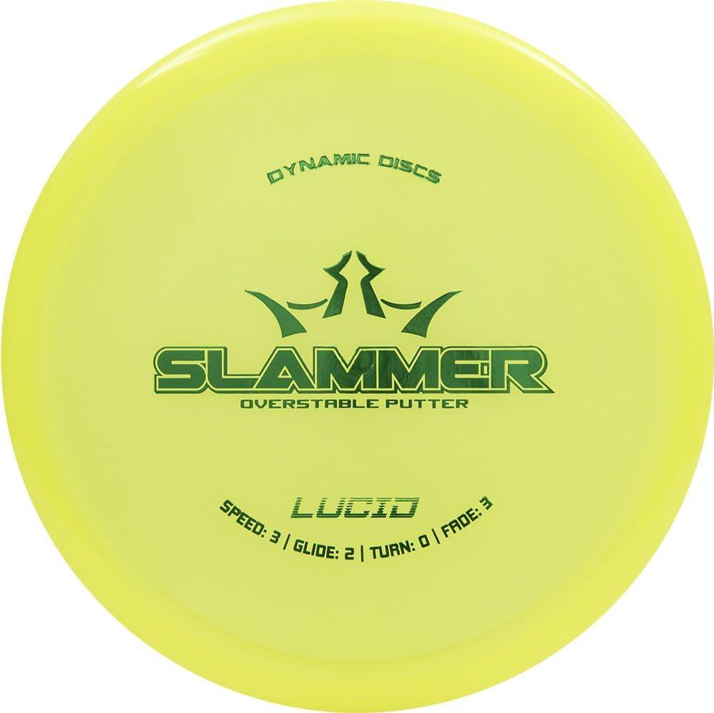 ダイナミックDiscs Lucid SlammerパターGolf Disc [ Colors May Vary ]  173-176g