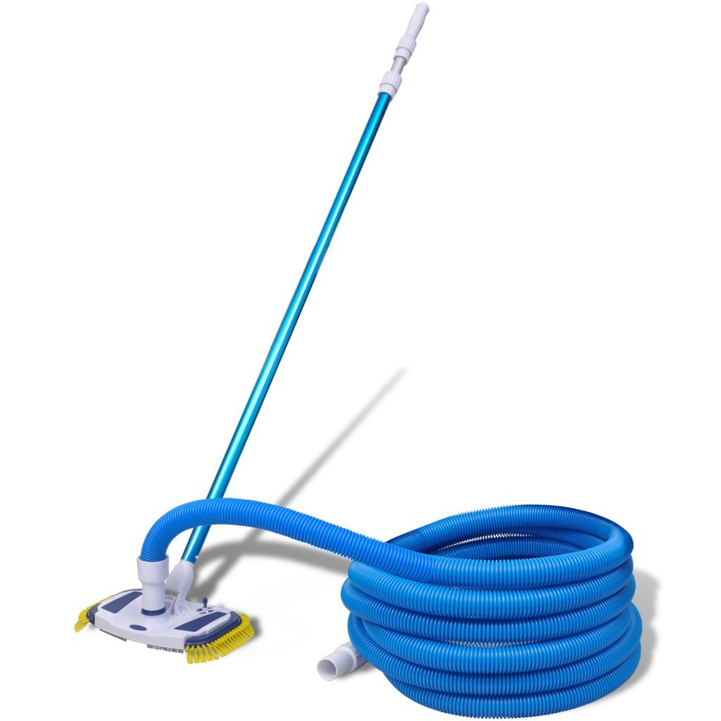 Festnight Pool Cleaning Tool Vacuum Head with Telescopic Pole and Hose