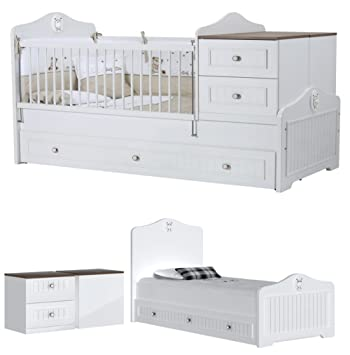 Kinderbett mitwachsend  BABY BETT GITTERBETT GOLF / DAS MITWACHSENDE BABY KINDERBETT / 7 ...