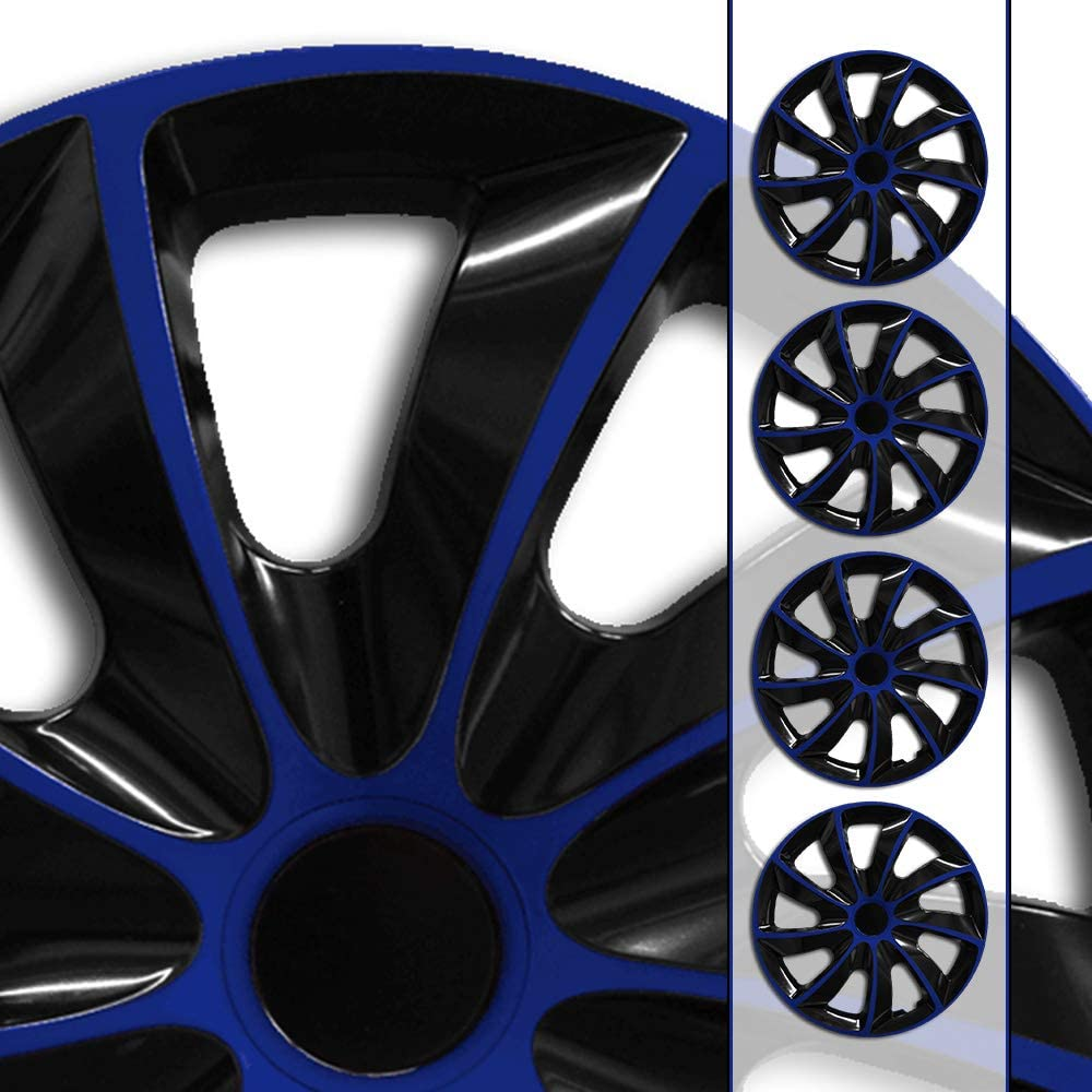 Eight Tec Handelsagentur passend f/ür Fast alle Fahrzeugtypen universal 15 Zoll Radkappen//Radzierblenden QuB BUNDEL Gr/ö/ße w/ählbar Schwarz-Blau