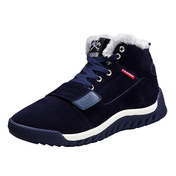 Ansenesna Herren Schuhe Winter Gefüttert Warm Elegant Flach Hoch Boots Männer Teenager Outdoor Zum Schnüren Schuhe