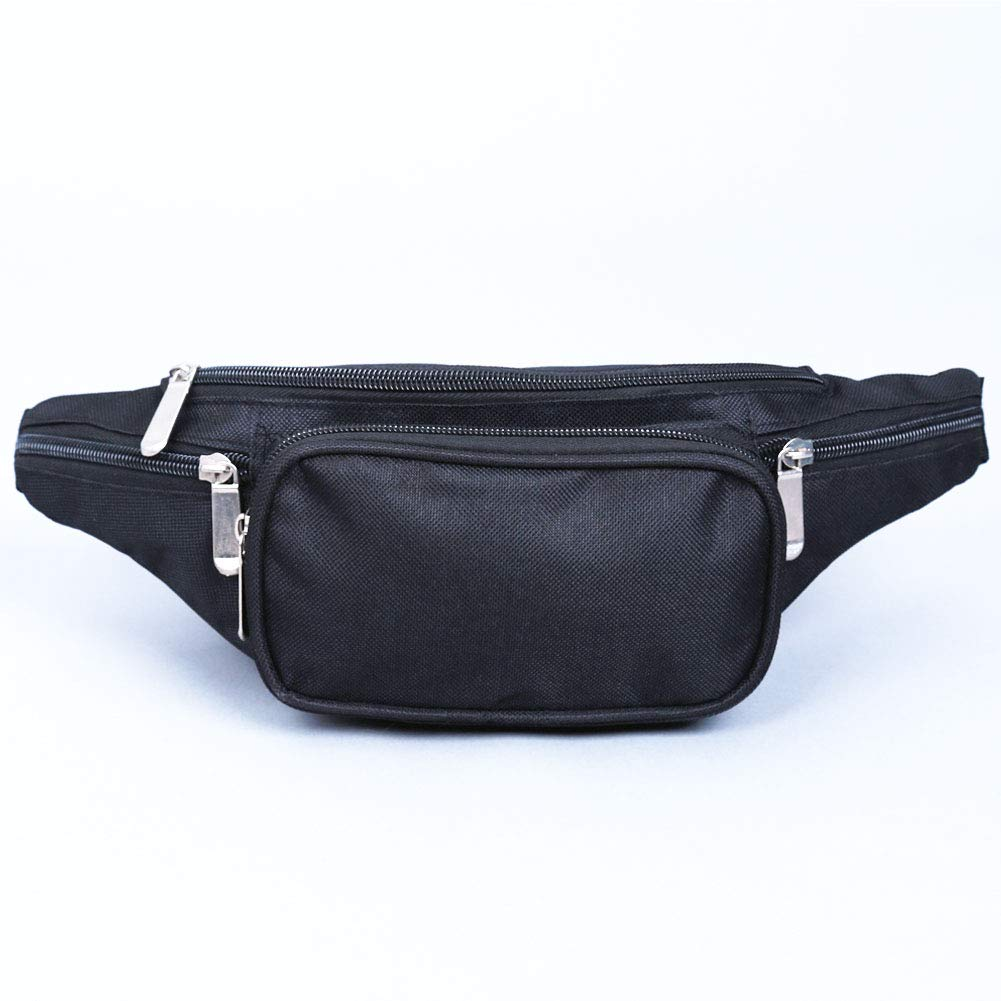 Trip Canvas Multi Pockets Travel Waist Bag for Women and Men with Adjustable Belt for Hiking Fanny Pack Unisex