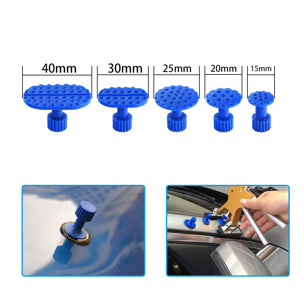 JMgist Paintless Dent Removal Puller Tabs Dent Repairs Tools Set Aluminium Glue Pulling Tabs Auto Body Kits 32pcs by JMgist (Image #3)