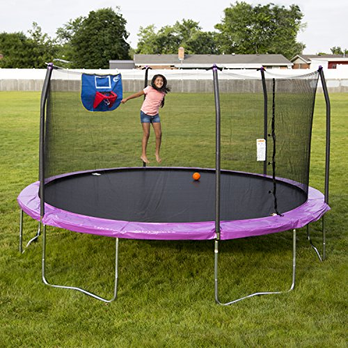 Skywalker Trampolines 15 Foot Sq Trampoline And Safety: Skywalker Trampolines 15-Foot Jump N' Dunk Trampoline With