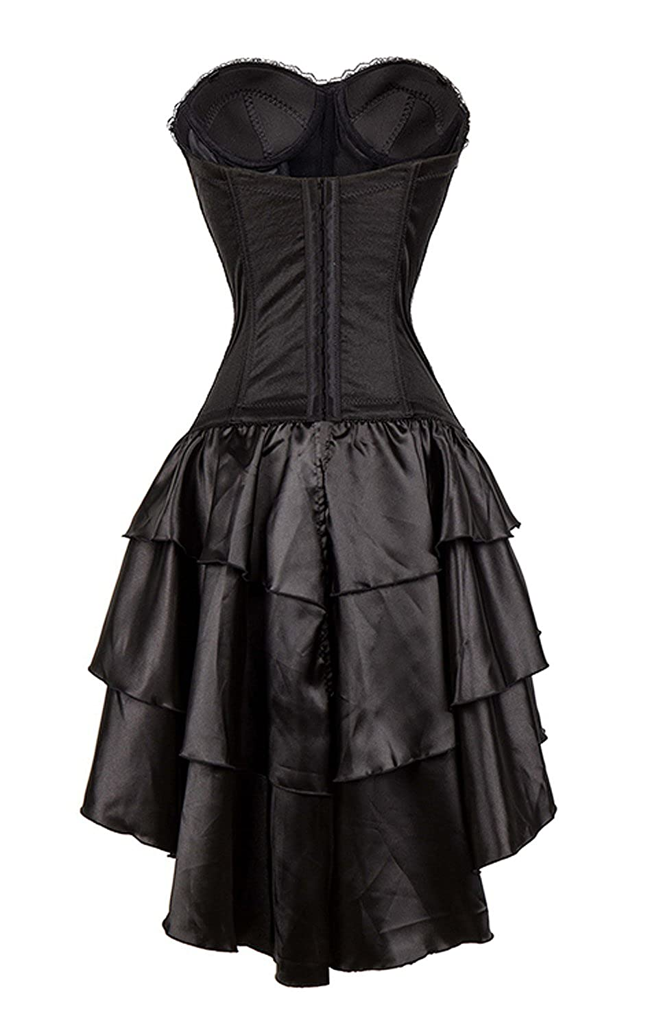 Amazon.com  Killreal Women s Strapless Steampunk Gothic Corset Dress  Halloween Costume Black Small  Clothing 93f1f0beb