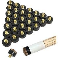 YuCool Puntas para atornillar de 30 Piezas, reemplazos de Palo de Taco de Billar de Cuero Duro 13 mm