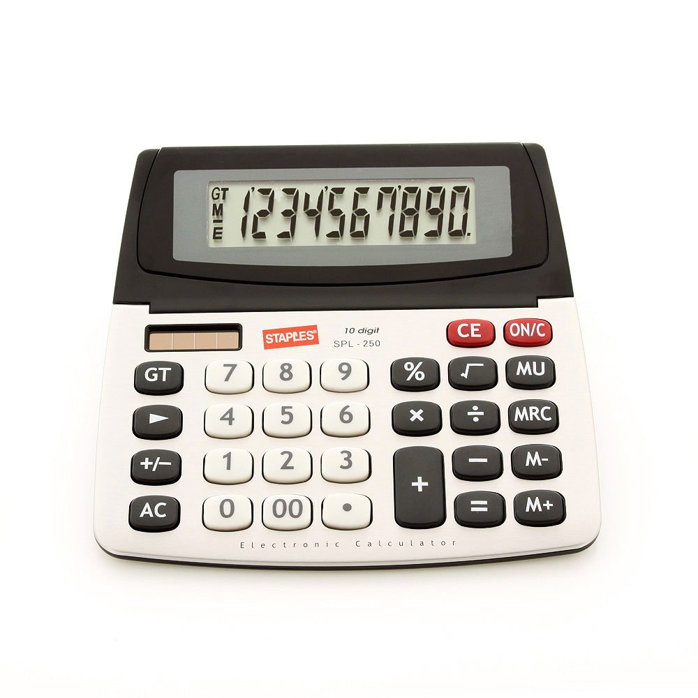 Staples SPL-250 10-Digit Large Display Calculator - Solar Powered with Battery Backup and Auto-Off New land faucet