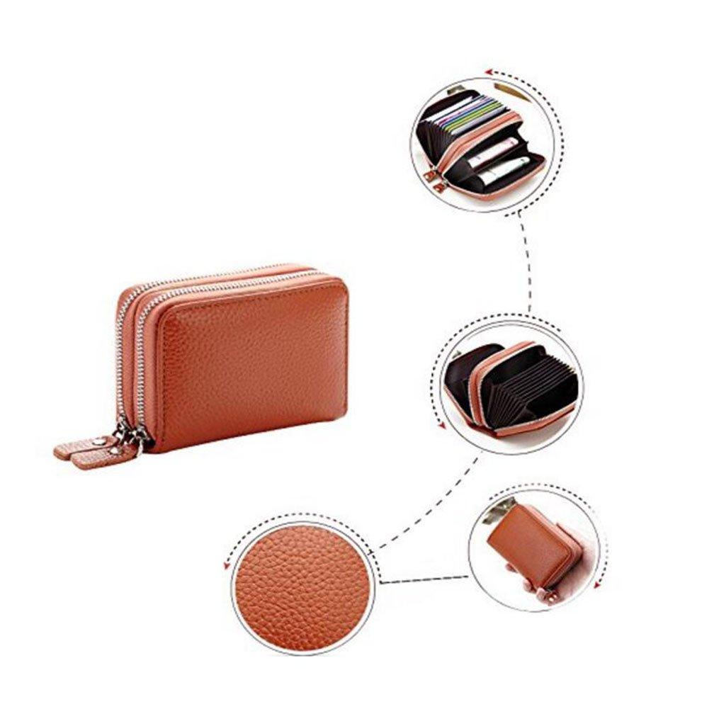 954f71a4461 DcSpring RFID Cartera Tarjeteros Piel Genuino Monedero Pequeñas  Portatarjetas Mini Cremallera para Mujer Hombre Para mujer Amarillo