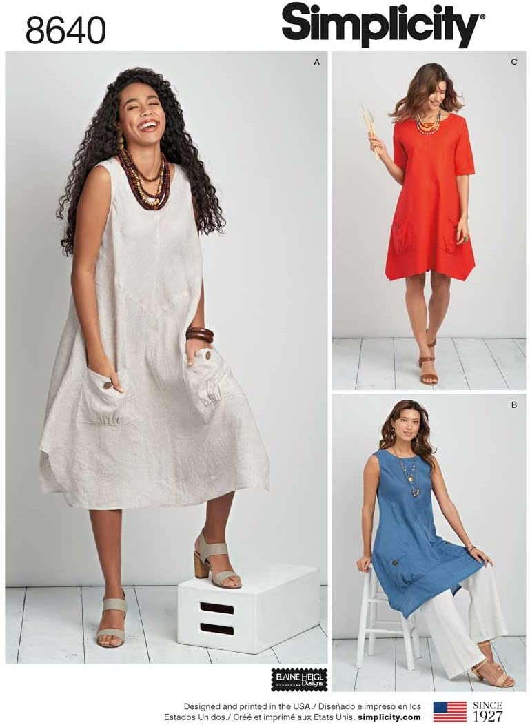Simplicity Women S Plus Size Dress Or Tunic Sewing Pattern Paper White 20w 28w Amazon Co Uk Kitchen Home,Fall Maxi Dresses For Wedding Guest