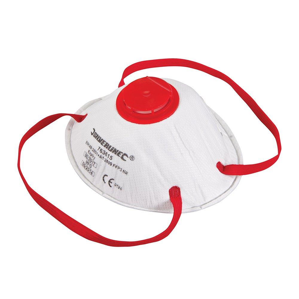 Silverline 763615 Masque respiratoire moulé à Valve ffp3 nr