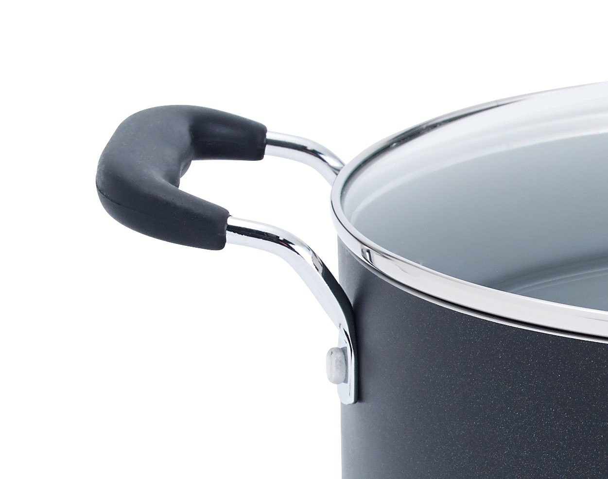 T-fal B36262 Specialty Total Nonstick Dishwasher Safe Oven Safe Stockpot Cookware, 12-Quart, Black by T-fal (Image #3)