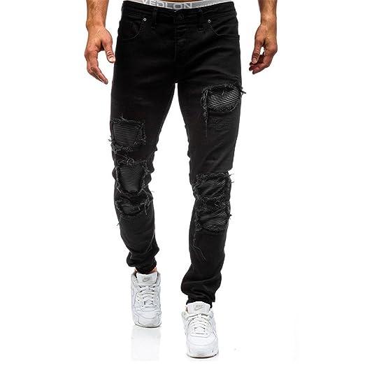 Amazon.com: Hip Hop Trendy Zipper Jeans Pants Men: Clothing
