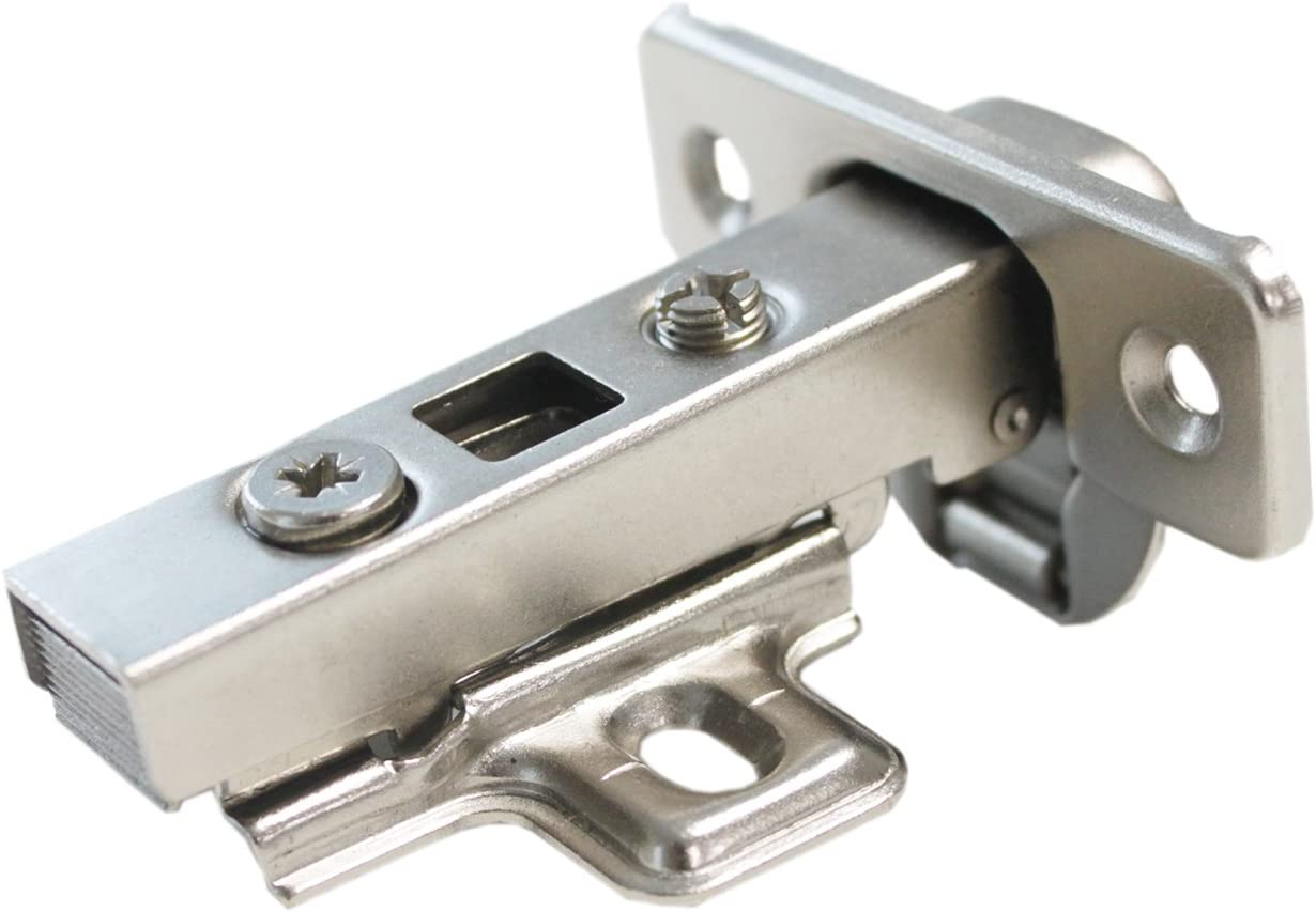 Probrico CHR093 105 Degree Soft Closing European Full Overlay Concealed Hinge With Mounting Plate,1 Pair by Probrico