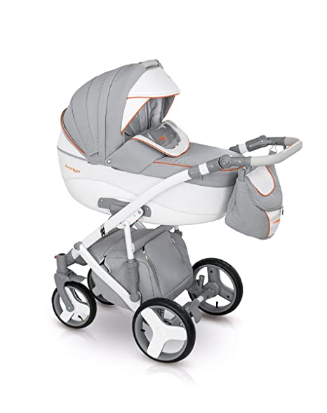 Lux4kids Trío Cochecito 3 in 1 Silla de paseo + capazo + silla para coche +