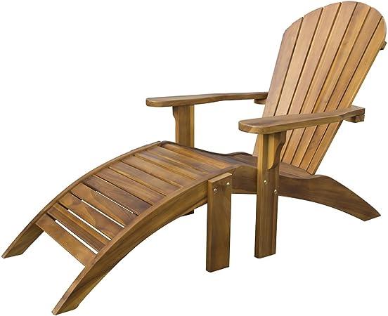 Chaise de Jardin Adirondack avec Repose-Pieds - Fauteuil en ...