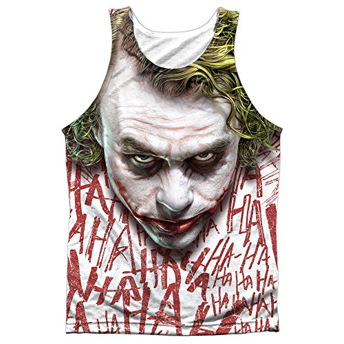 Trevco The Dark Knight Joker Face Unisex Adult Front Print Sublimated Tank Top For Men and Women