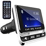 Trasmettitore FM Bluetooth,ToHayie Trasmettitore Bluetooth Radio Adapter Car Kit Per Bluetooth, Scheda TF, USB Port,Per Cellulari iPhone Huawei, Mp3 Mp4 Tablet Portatile Altri Dispositivi Bluetooth