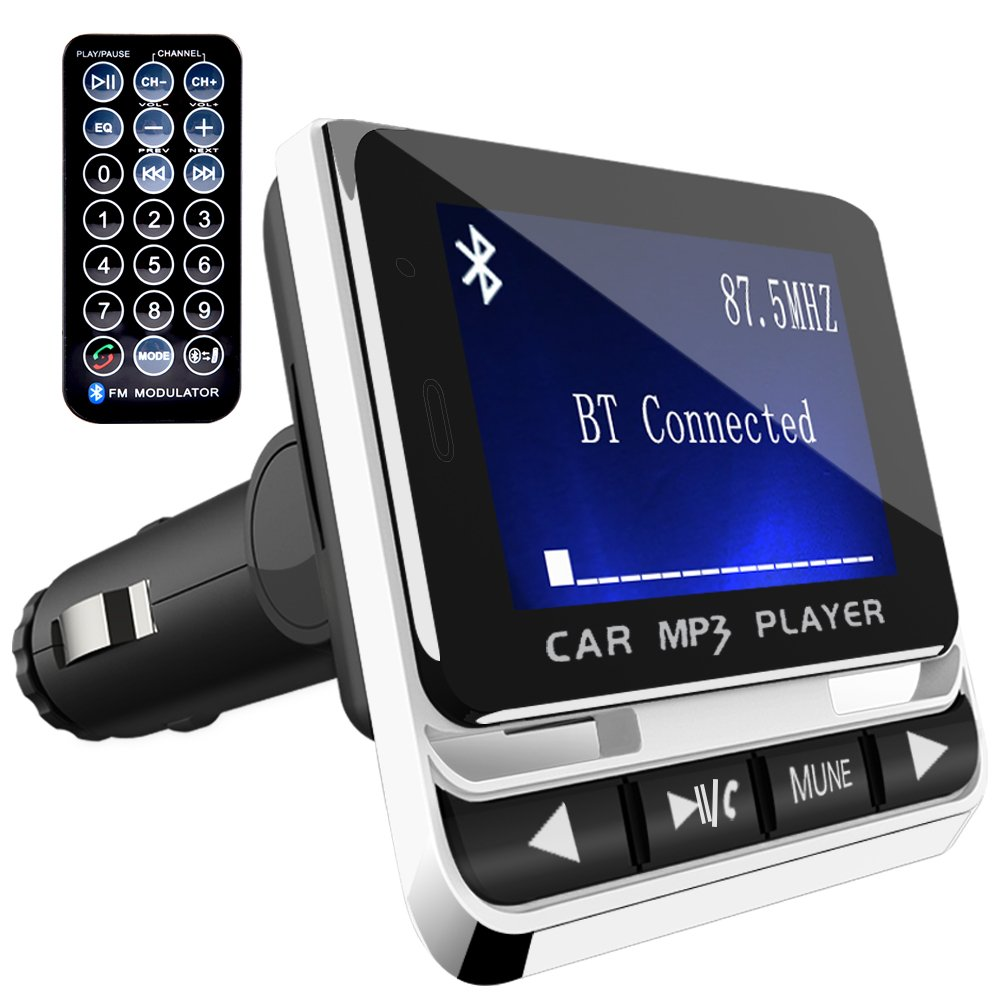 Transmisor FM Bluetooth para Coche Tohayie Reproductor MP Mechero de Coche Manos