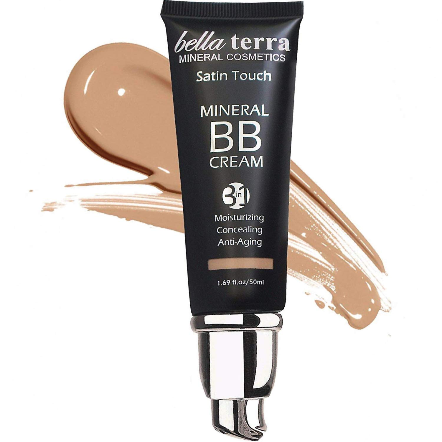 Bella Terra BB Cream Tinted Moisturizer, Mineral Foundation
