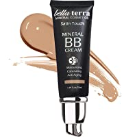 Bella Terra BB Cream Tinted Moisturizer, Mineral Foundation, Concealer, Anti-Aging, Natural Sun Protection, All Shades 1.69oz - Medium 104