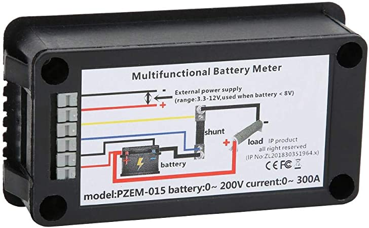 Details about  /PZEM-015 LCD Battery Tester Monitor DC Voltage Current Power Capacity+50A Shunt