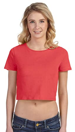 c2e408fccb1725 Bella + Canvas Ladies  Crop Top-6681 at Amazon Women s Clothing store