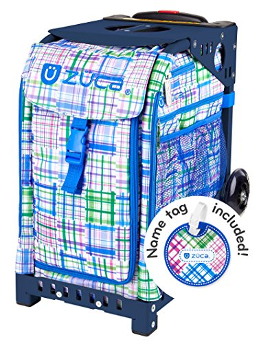 Zuca Berry Patch Sport Insert Bag and Navy Blue Frame with Flashing Wheels by ZUCA (Image #3)