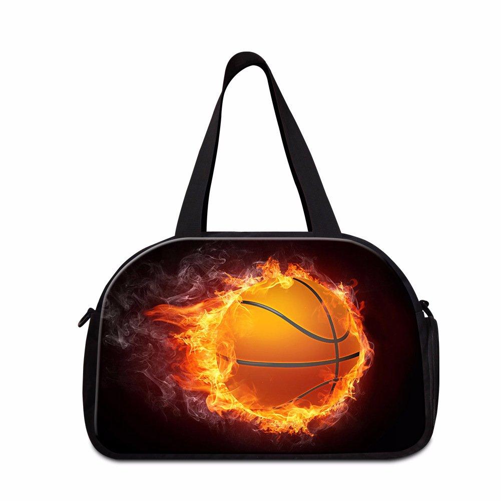 Dispalang Soccer Basketball Travel Bag Gym Bag Sports Shoulder Duffle Bag good