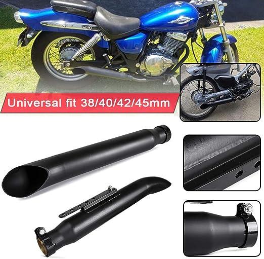 Universal 38mm 40mm 42mm 45mm Edelstahl Mattschwarz Motorrad Slash Cut Schalldämpfer Auspuffrohr Für Harley Xv950 M800 1200 Custom Xl883 Auto