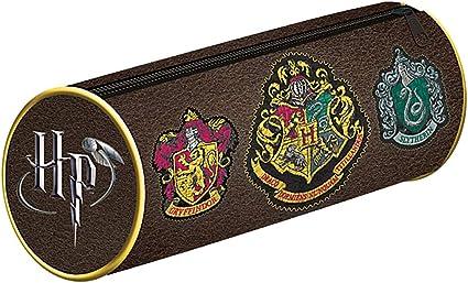 Warner Bros - Estuche de PVC con cremallera, con diseño del escudo de Hogwarts House en la película de Harry Potter.: Amazon.es: Oficina y papelería